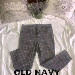 OLD NAVY- SZ 10 PIXIE PANTS.  BLK/WHT/PINK